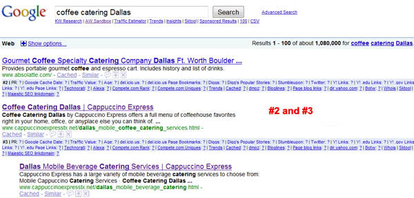 Top Search Engine Ranking Results