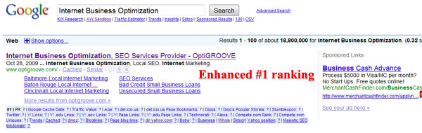 Top Ranking for Internet Business Optimization