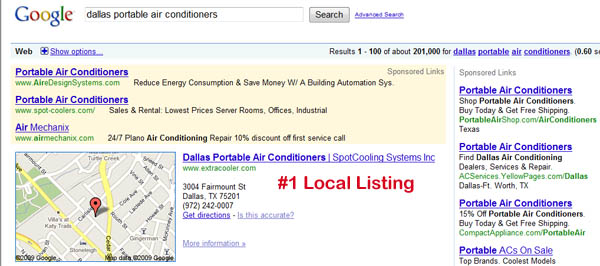 Top Local Listing on Google Search Engine