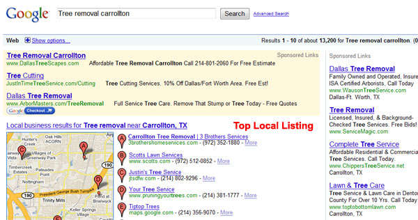 Top Ranking Search Engine Results - Tree Trimmer